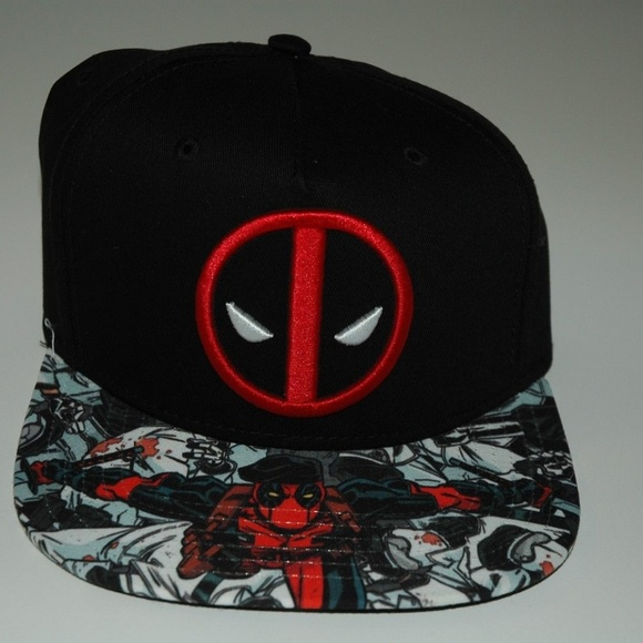 low priced 16995 fb156 ... clearance marvel deadpool mens snapback cap new with tags a0b0c aa965